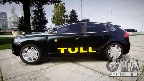 Volvo V40 Swedish TULL [ELS] para GTA 4 esquerda vista