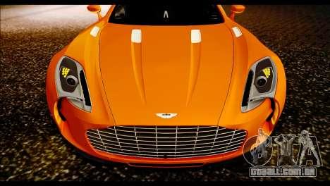 Aston Martin One-77 Black para GTA San Andreas traseira esquerda vista