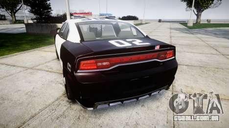 Dodge Charger 2013 LAPD [ELS] para GTA 4 traseira esquerda vista