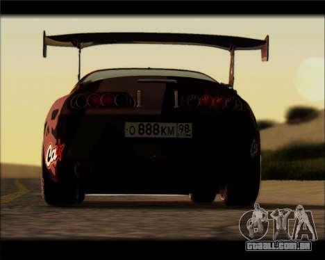 Toyota Supra Fail Crew para GTA San Andreas traseira esquerda vista