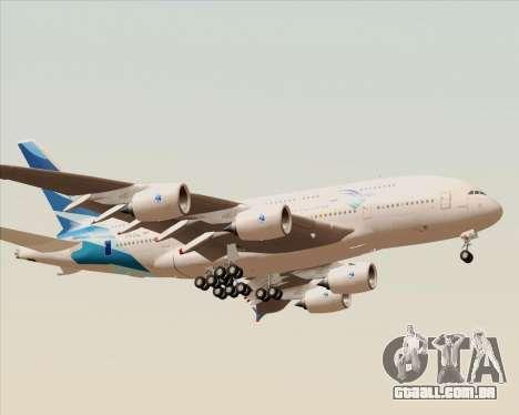 Airbus A380-800 Garuda Indonesia para GTA San Andreas vista direita