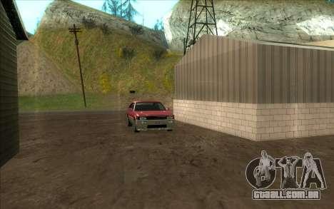 Estrada da garagem do Sigea para GTA San Andreas por diante tela