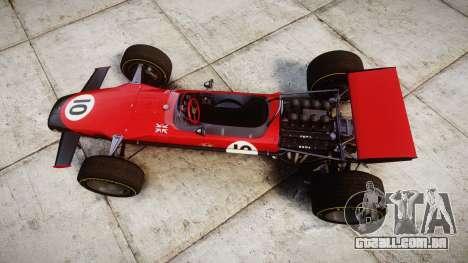 Lotus Type 49 1967 [RIV] PJ9-10 para GTA 4 vista direita