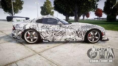 Dodge Viper SRT GTS 2013 Sharpie para GTA 4 esquerda vista