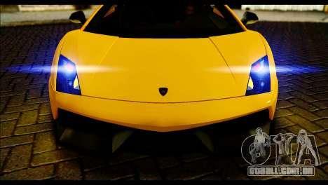 Lamborghini Gallardo LP 570-4 para GTA San Andreas traseira esquerda vista