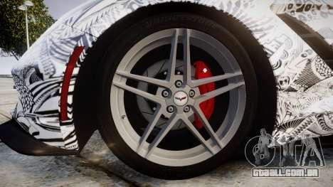 Chevrolet Corvette Stingray C7 2014 Sharpie para GTA 4 vista de volta