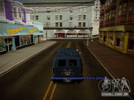 Sistema de roubos v4.0 para GTA San Andreas twelth tela