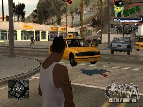 C-HUD Grove Street Gang para GTA San Andreas segunda tela