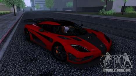 Koenigsegg One:1 2014 para GTA San Andreas vista traseira