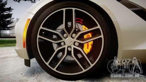 Chevrolet Corvette C7 2014 Tuning para GTA 4 vista de volta