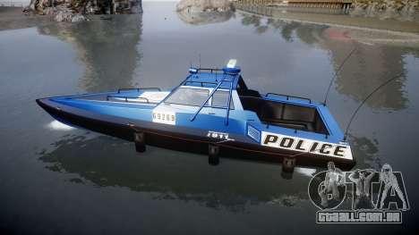 GTA V Police Predator para GTA 4 esquerda vista
