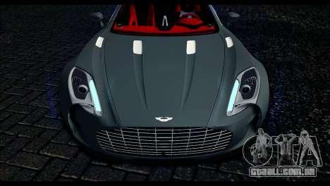 Aston Martin One-77 Red and Black para GTA San Andreas vista direita