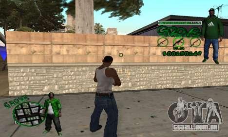 C-HUD Groove para GTA San Andreas terceira tela