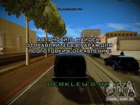 Sistema de roubos v4.0 para GTA San Andreas sétima tela