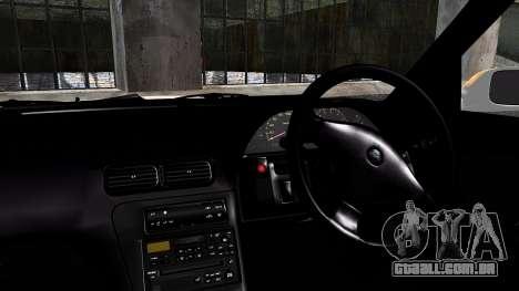 Nissan Silvia S13 Camber Style para GTA San Andreas traseira esquerda vista