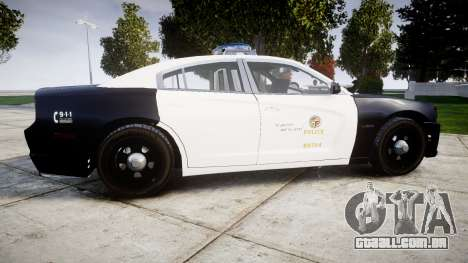 Dodge Charger 2013 LAPD [ELS] para GTA 4 esquerda vista