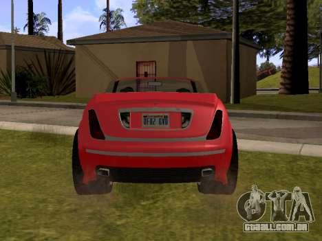 Cognoscenti Cabrio para GTA San Andreas traseira esquerda vista