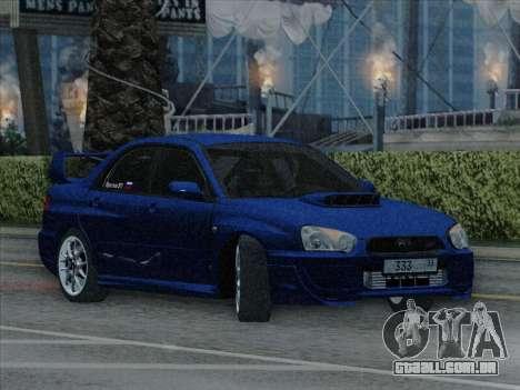 Subaru impreza WRX STI 2004 para GTA San Andreas vista direita