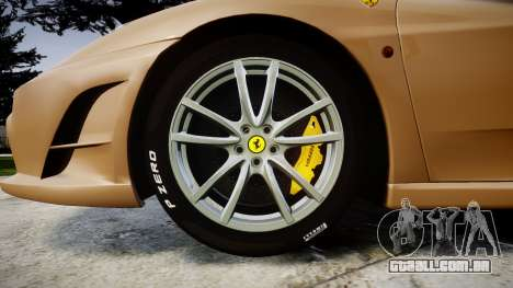 Ferrari F430 Scuderia 2007 plate F430 para GTA 4 vista de volta