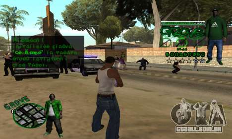 C-HUD Groove para GTA San Andreas por diante tela