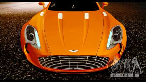 Aston Martin One-77 Black para GTA San Andreas vista direita