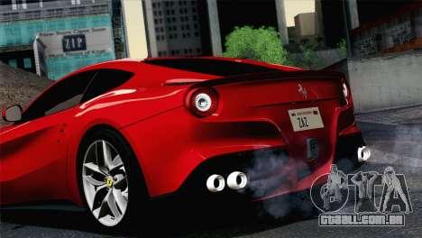 Ferrari F12 Berlinetta 2013 para GTA San Andreas traseira esquerda vista
