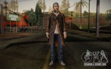 Aiden Pearce from Watch Dogs v11 para GTA San Andreas