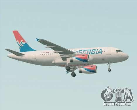 Airbus A319-100 Air Serbia para GTA San Andreas vista direita