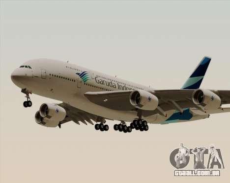 Airbus A380-800 Garuda Indonesia para GTA San Andreas vista interior