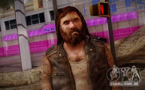 Francis from Left 4 Dead Beta para GTA San Andreas terceira tela