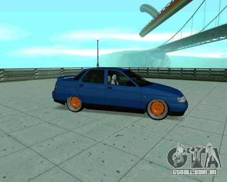 VAZ 2110 de Táxi para GTA San Andreas traseira esquerda vista