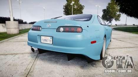 Toyota Supra 1998 para GTA 4 traseira esquerda vista