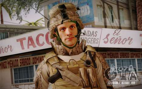 Blackburn from Battlefield 3 para GTA San Andreas terceira tela