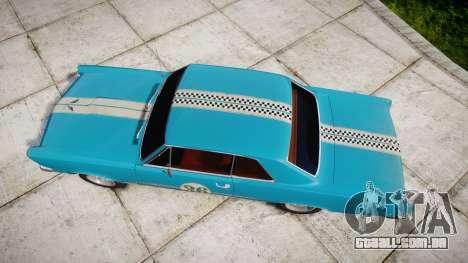 Pontiac GTO 1965 victory cars para GTA 4 vista direita