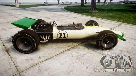 Lotus Type 49 1967 [RIV] PJ21-22 para GTA 4 esquerda vista