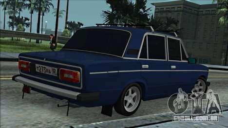 ВАЗ 2106 estilo russo 2.0 para GTA San Andreas vista direita