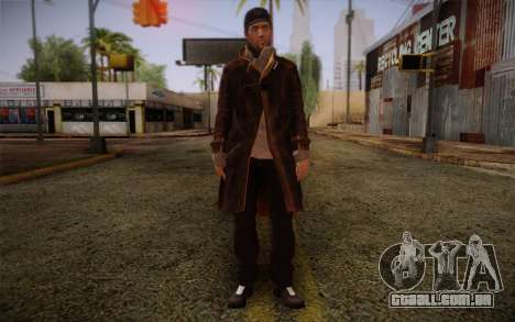 Aiden Pearce from Watch Dogs v10 para GTA San Andreas