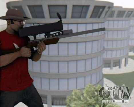 TF2 Sniper Rifle para GTA San Andreas terceira tela