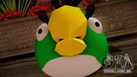 Green Bird from Angry Birds para GTA San Andreas terceira tela