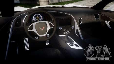 Chevrolet Corvette Stingray C7 2014 Sharpie para GTA 4 vista interior