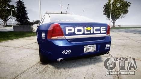 Chevrolet Caprice 2012 LCPD [ELS] v1.1 para GTA 4 traseira esquerda vista