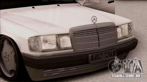 Mercedes-Benz 190E para GTA San Andreas vista direita
