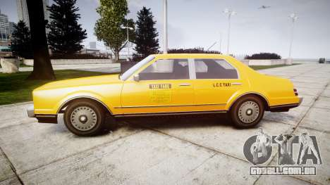 Albany Esperanto Taxi para GTA 4 esquerda vista