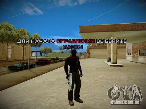 Sistema de roubos v4.0 para GTA San Andreas segunda tela