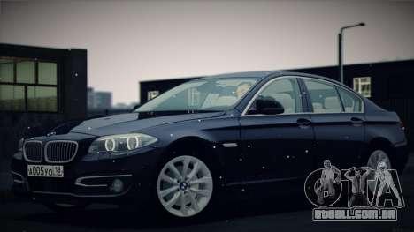 BMW 535i F10 para GTA San Andreas vista superior