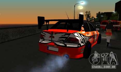 Mitsubishi Lancer Evo 9 Kumakubo Team Orange para GTA San Andreas vista traseira