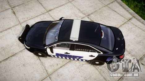 Ford Taurus 2014 Sheriff [ELS] para GTA 4 vista direita
