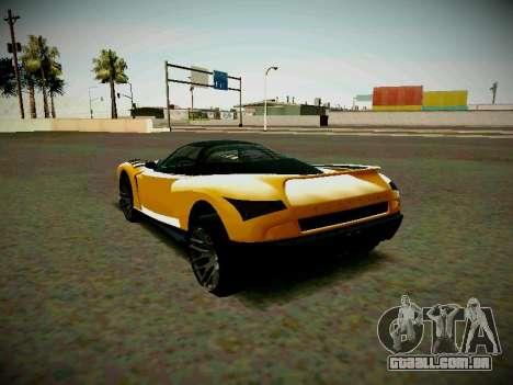 Cheetah из GTA 5 para GTA San Andreas esquerda vista
