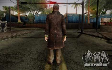 Aiden Pearce from Watch Dogs v2 para GTA San Andreas segunda tela