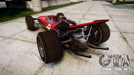 Lotus Type 49 1967 [RIV] PJ9-10 para GTA 4 traseira esquerda vista